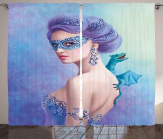 Fantasy Snow Queen Curtain