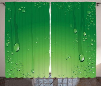 Abstract Art Water Drops Curtain