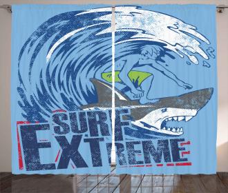 Extreme Sports Retro Curtain