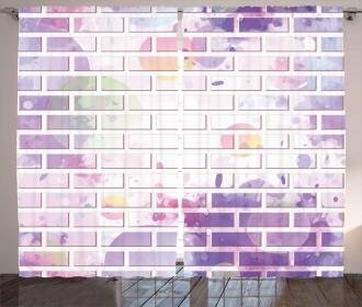 Vector Graffiti Brick Curtain