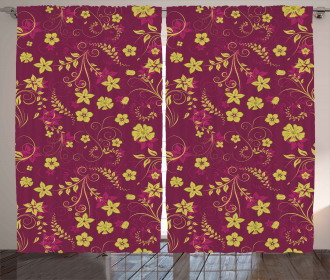 Spring Flowers Pattern Curtain