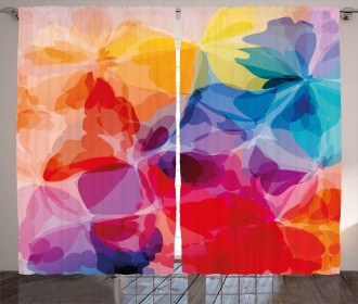 Abstract Creative Watercolor Curtain