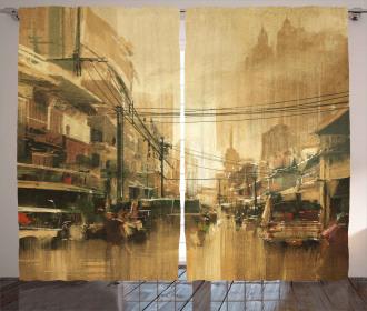 City Street View Curtain