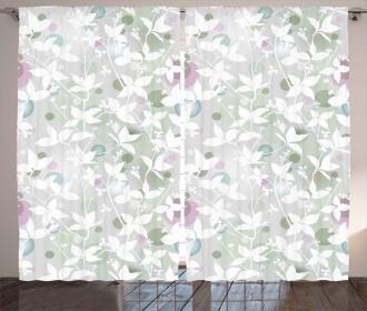 Vintage Seamless Pattern Curtain