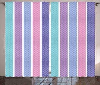Polka Dot with Stripes Curtain