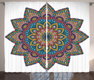 Colorful Ethnic Pattern Curtain