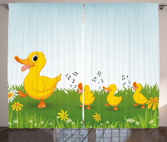 Mother Duck and Babies Curtain