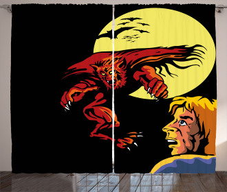 Super Heros Monsters Curtain