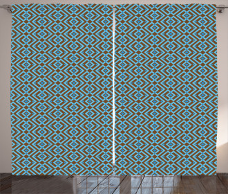 Nested Square Pattern Curtain