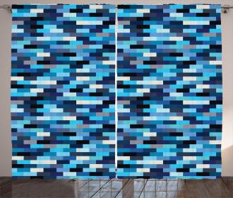 Geometric Design Stripes Curtain