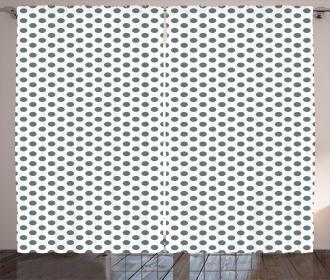 Vintage Sketch Dots Curtain