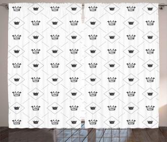 Cute Crowns Dots Artsy Curtain