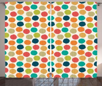 Hipster Polka Dots Tile Curtain