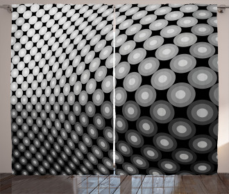 3D Digital Mosaic Dots Curtain