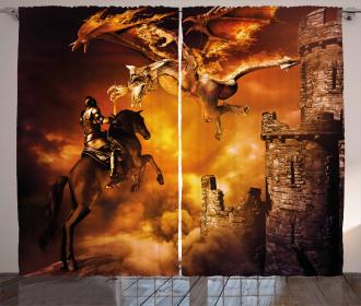 Knight on Horse Curtain