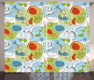 Geometric Funky Swirl Curtain