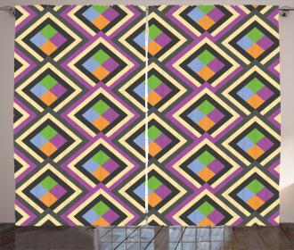 Geometric Square Artsy Curtain