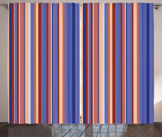 Gradient Color Stripes Curtain