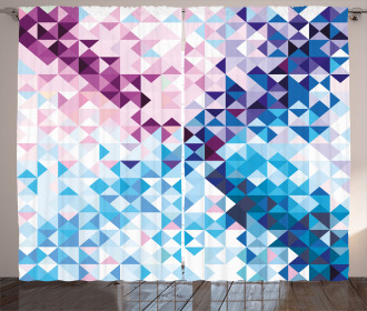 Abstract Mosaic Ombre Curtain