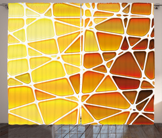 Geometrical Ombre Shapes Curtain