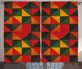 Grunge Mosaic Tile Curtain