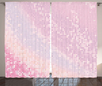 Abstract Disco Ball Pattern Curtain