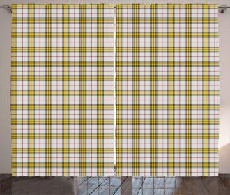 Scottish Tartan Bands Curtain