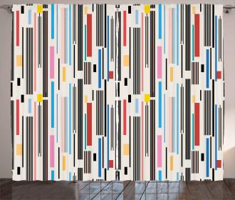 Various Color Stripes Curtain