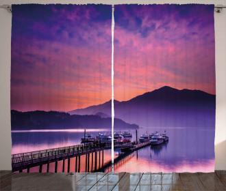 Lake in Nantou Taiwan Curtain