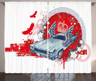Winged and Crowned Car Curtain