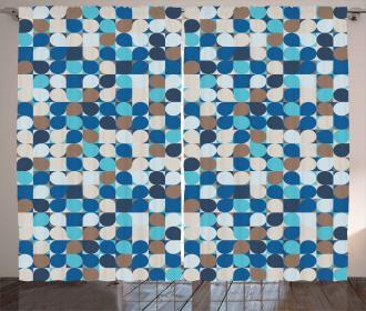 Pastel Mosaic Pattern Curtain