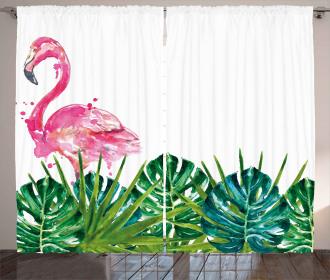 Exotic Nature Flamingo Curtain