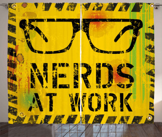 Nerds at Work Grungy Curtain