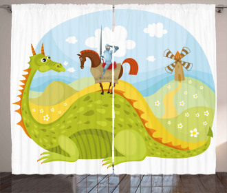 Knight and His Horse Curtain