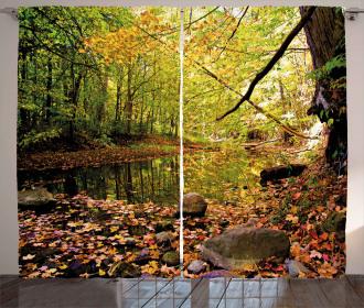 Pine River in Autumn Curtain
