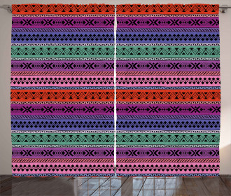 Geometric Tribal Colorful Curtain