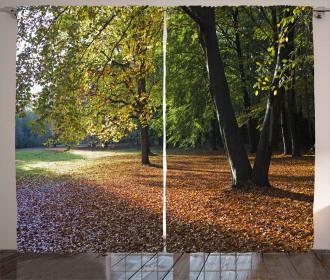 Tranquil Tiergarten Berlin Curtain