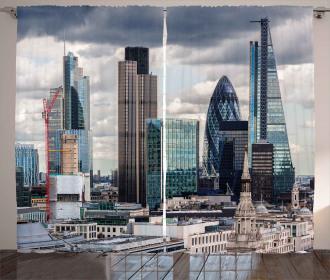London Modern Cityscape Curtain