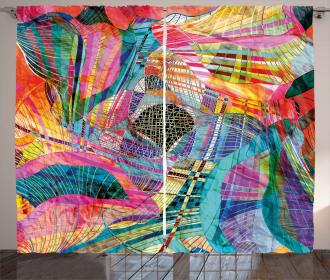Retro Artistic Graphic Curtain