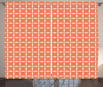 Modern Flower Petal Tile Curtain