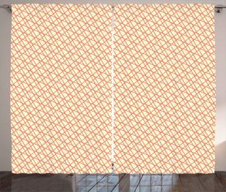 Stripes Line Art Curtain