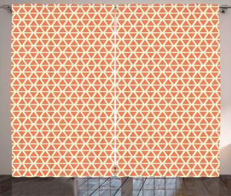 Groovy Soft Triangles Curtain