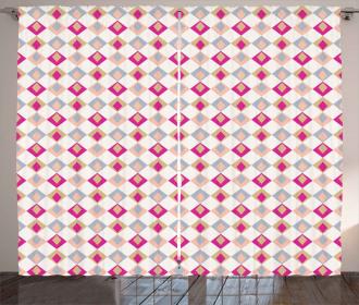 Checkered Pattern Soft Curtain