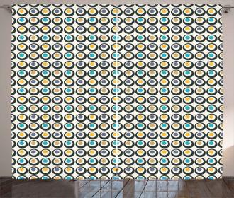 Bold Circles Polka Dots Curtain