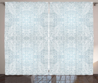 Swirled Floral Lines Curtain