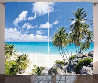 Barbados Beach Ocean Curtain