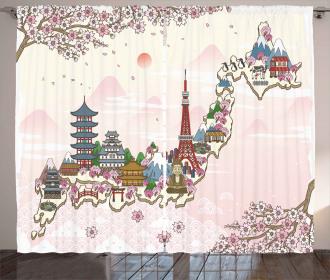 Travel Poster Sakura Curtain