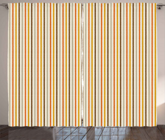Colorful Fashion Stripes Curtain