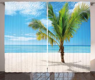 Coconut Palm at Beach Curtain