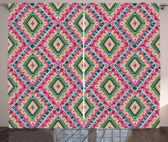 Ethnic Geometric Doodle Curtain